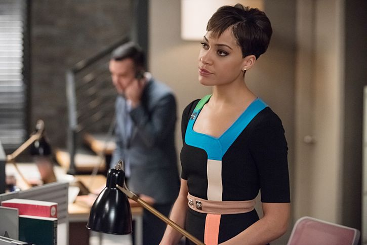 """Targets"" -- Alicia joins a secret panel of attorneys advising the U.S. government on a controversial case. Also, Eli hires Elsbeth Tascioni (Carrie Preston) to uncover why the FBI is targeting Peter, on THE GOOD WIFE, Sunday, Feb. 21 (9:00-10:00 PM, ET/PT) on the CBS Television Network.  Cush Jumbo as Lucca Quinn Photo:  Jeff Neumann/CBS ©2015 CBS Broadcasting, Inc. All Rights Reserved"