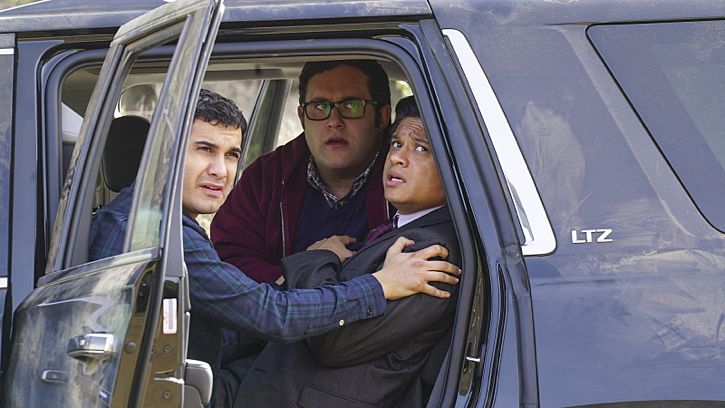 """""""Adaptation"""" -- While Team Scorpion works to stop an influx of drugs being smuggled into the country via drones, Walter gives Happy and Toby an ultimatum on their new relationship, on SCORPION, Monday, Feb. 22 (9:00-9:59 PM, ET/PT) on the CBS Television Network. Pictured: Elyes Gabel as Walter O'Brien, Ari Stidham as Sylvester Dodd, Jorge-Luis Pallo as DEA Agent Sanchez. Photo: Monty Brinton/CBS ©2016 CBS Broadcasting, Inc. All Rights Reserved"""