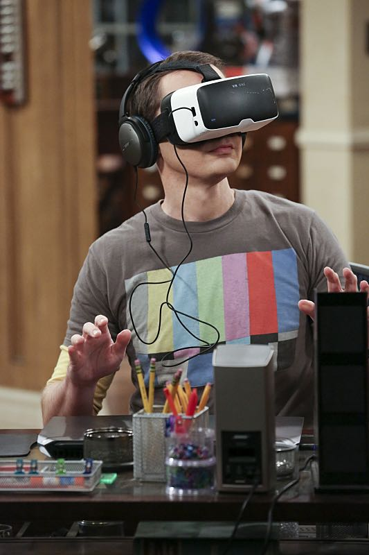 """""""The Big Bear Precipitation"""" -- Sheldon (Jim Parsons, pictured) spills a secret of Leonard's when the two take a weekend cabin trip with Penny and Amy, on THE BIG BANG THEORY, Thursday, April 7 (8:00-8:31 PM, ET/PT) on the CBS Television Network. Photo: Michael Yarish/Warner Bros. Entertainment Inc. © 2016 WBEI. All rights reserved."""