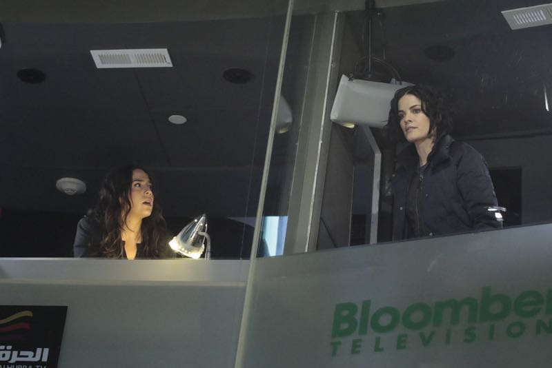 """BLINDSPOT -- """"Any Wounded Thief"""" Episode 116 -- Pictured: (l-r) Audrey Esparza as Tasha Zapata, Jaimie Alexander as Jane Doe -- (Photo by: Giovanni Rufino/NBC)"""