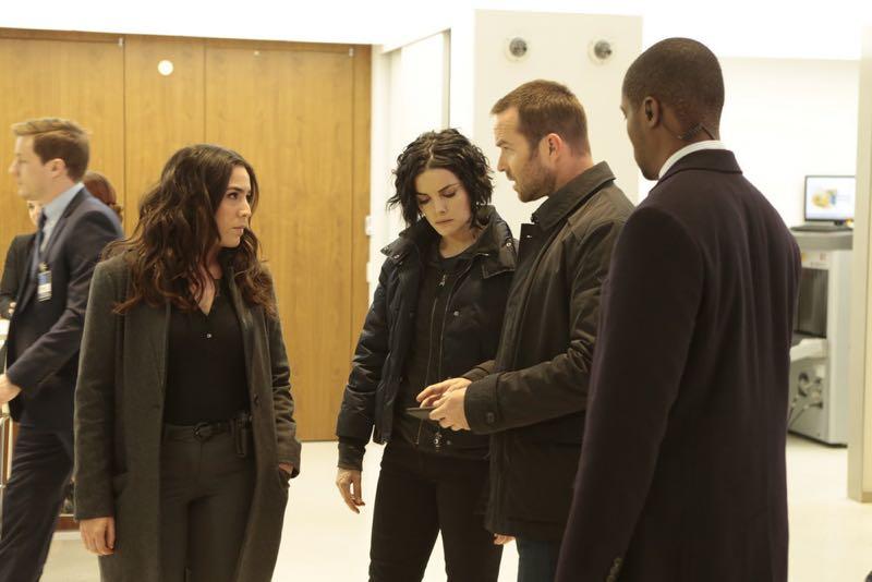 "BLINDSPOT -- ""Any Wounded Thief"" Episode 116 -- Pictured: (l-r) Audrey Esparza as Tasha Zapata, Jaimie Alexander as Jane Doe, Sullivan Stapleton as Kurt Weller -- (Photo by: Giovanni Rufino/NBC)"