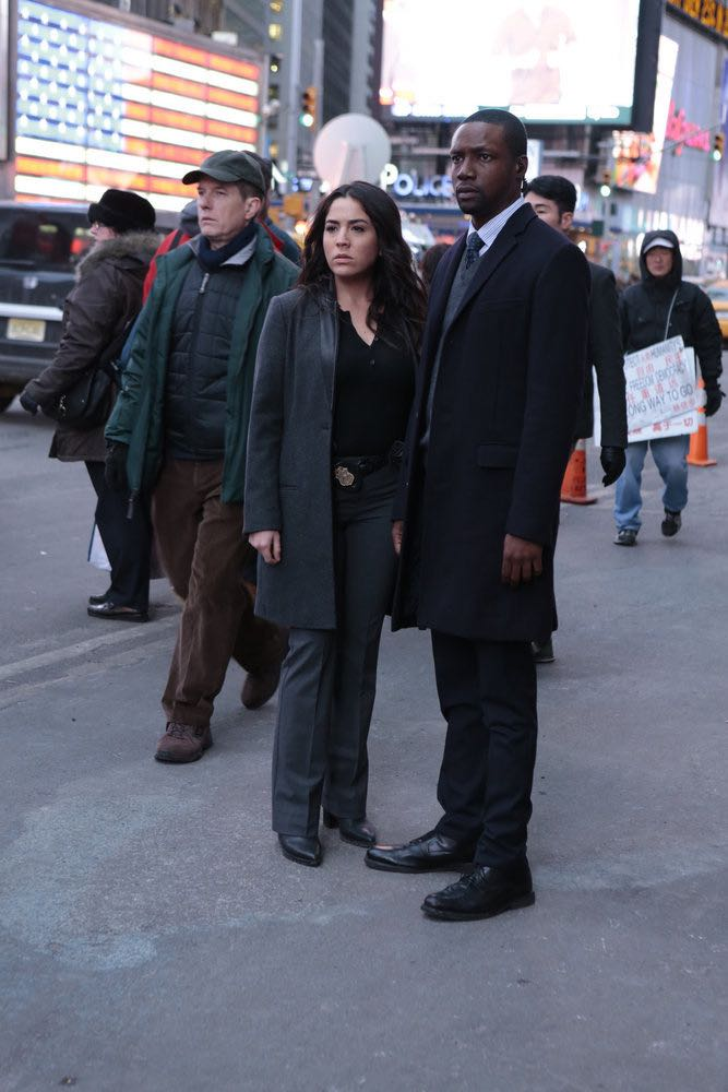 """BLINDSPOT -- """"Any Wounded Thief"""" Episode 116 -- Pictured: (l-r) Audrey Esparza as Tasha Zapata, Rob Brown as Edgar Reed -- (Photo by: Giovanni Rufino/NBC)"""