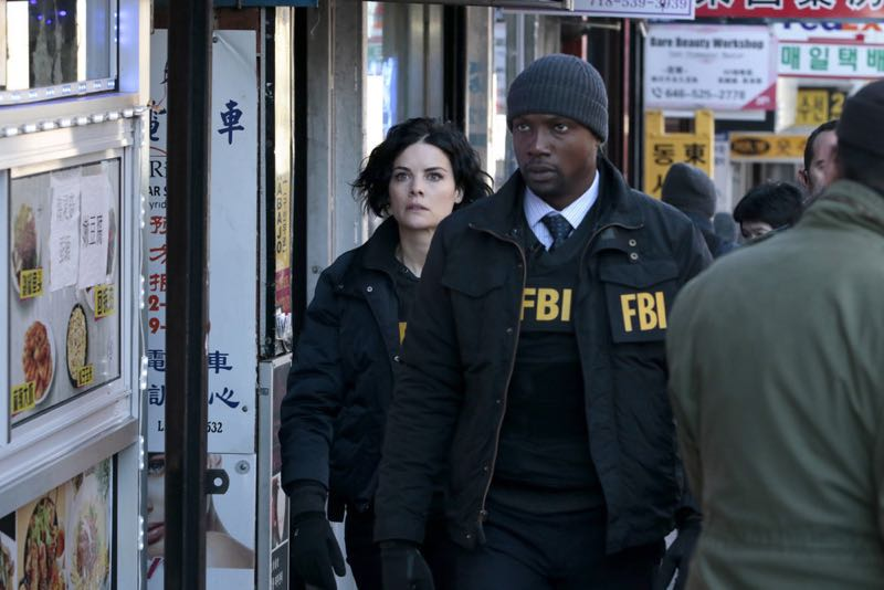 """BLINDSPOT -- """"Any Wounded Thief"""" Episode 116 -- Pictured: (l-r) Jaimie Alexander as Jane Doe, Rob Brown as Edgar Reed -- (Photo by: Giovanni Rufino/NBC)"""