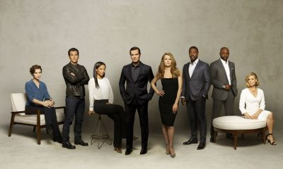"THE CATCH - ABC's ""The Catch"" stars Elvy Yost as Sophie, Jay Hayden as Danny, Rose Rollins as Valerie, Peter Krause as Benjamin, Mireille Enos as Alice, Jackie Ido as Jules, Alimi Ballard as Reggie and Sonya Walger as Margot. (ABC/Craig Sjodin)"