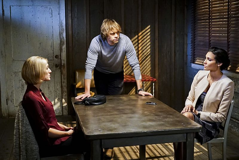 """""""Seoul Man"""" -- Pictured: Eric Christian Olsen (LAPD Liaison Marty Deeks) and Daniela Ruah (Special Agent Kensi Blye). While assigned to protective details for the commander of the Pacific Command, the team searches for a North Korean spy, on NCIS: LOS ANGELES, Monday, March 28 (9:59-11:00, ET/PT), on the CBS Television Network. Photo: Sonja Flemming/CBS ©2016 CBS Broadcasting, Inc. All Rights Reserved"""