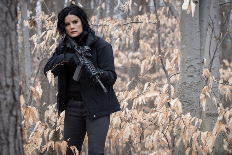"BLINDSPOT -- ""Mans Telepathic Loyal Lookouts"" Episode 117 -- Pictured: Jaimie Alexander as Jane Doe -- (Photo by: Jeff Neumann/NBC)"