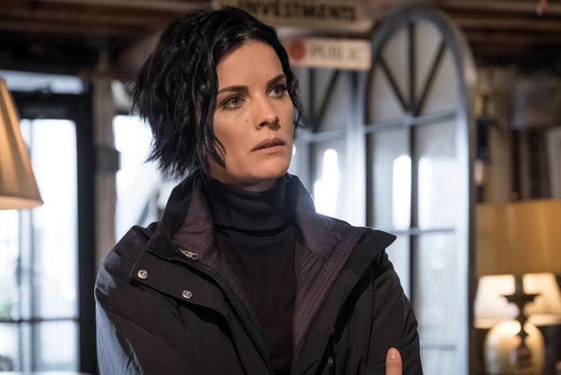 "BLINDSPOT -- ""Mans Telepathic Loyal Lookouts"" Episode 117 -- Pictured: Jaimie Alexander as Jane Doe -- (Photo by: Jeff Neumann/NBC)"
