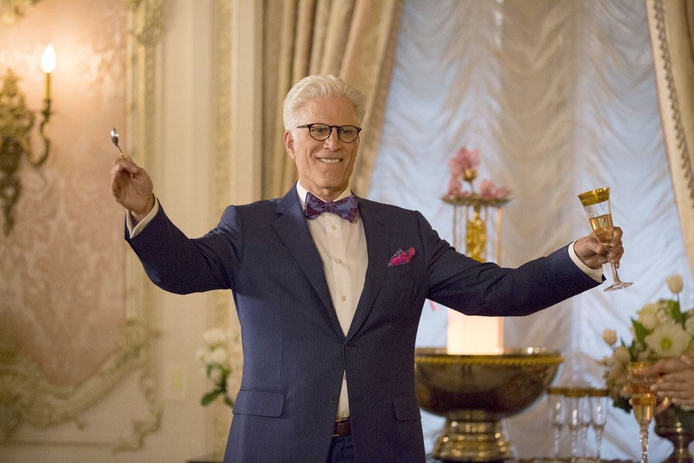 """THE GOOD PLACE -- """"Everything Is Fine"""" Episode 101-- Pictured: Ted Danson as Michael -- (Photo by: Justin Lubin/NBC)"""