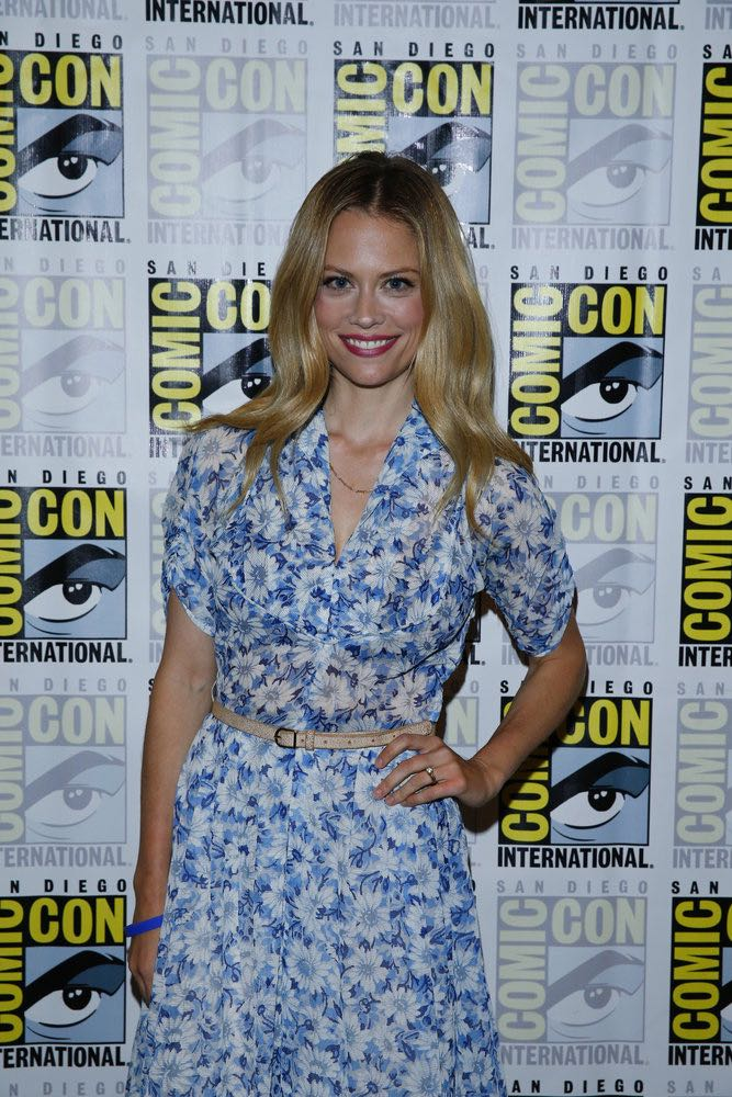 """COMIC-CON INTERNATIONAL: SAN DIEGO 2016 -- """"Grimm Panel and Press Room"""" -- Pictured: Claire Coffee, Friday, July 22, 2016, from the Hilton Bayfront, San Diego, Calif. -- (Photo by: Mark Davis/NBC)"""
