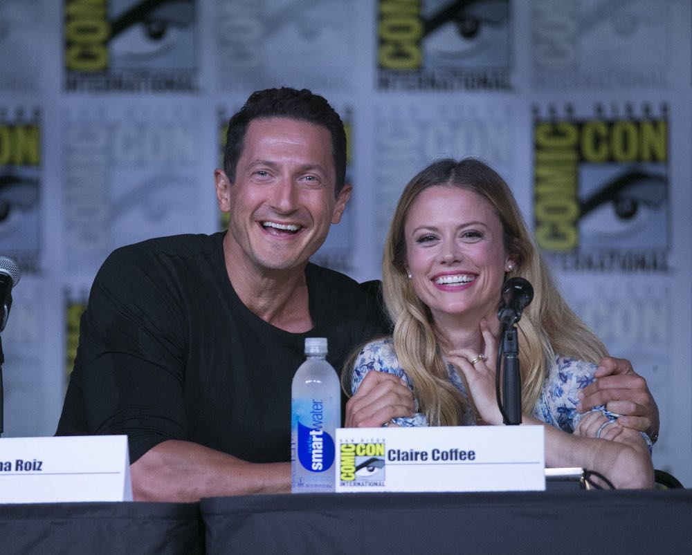 "COMIC-CON INTERNATIONAL: SAN DIEGO 2016 -- ""Grimm Panel"" -- Pictured: (l-r) Sasha Roiz, Claire Coffee, Saturday, July 23, 2016, from the San Diego Convention Center, San Diego, Calif. -- (Photo by: Mark Davis/NBC)"