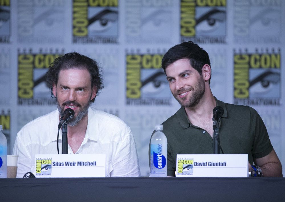 "COMIC-CON INTERNATIONAL: SAN DIEGO 2016 -- ""Grimm Panel"" -- Pictured: (l-r) Silas Weir Mitchell, David Giuntoli, Saturday, July 23, 2016, from the San Diego Convention Center, San Diego, Calif. -- (Photo by: Mark Davis/NBC)"