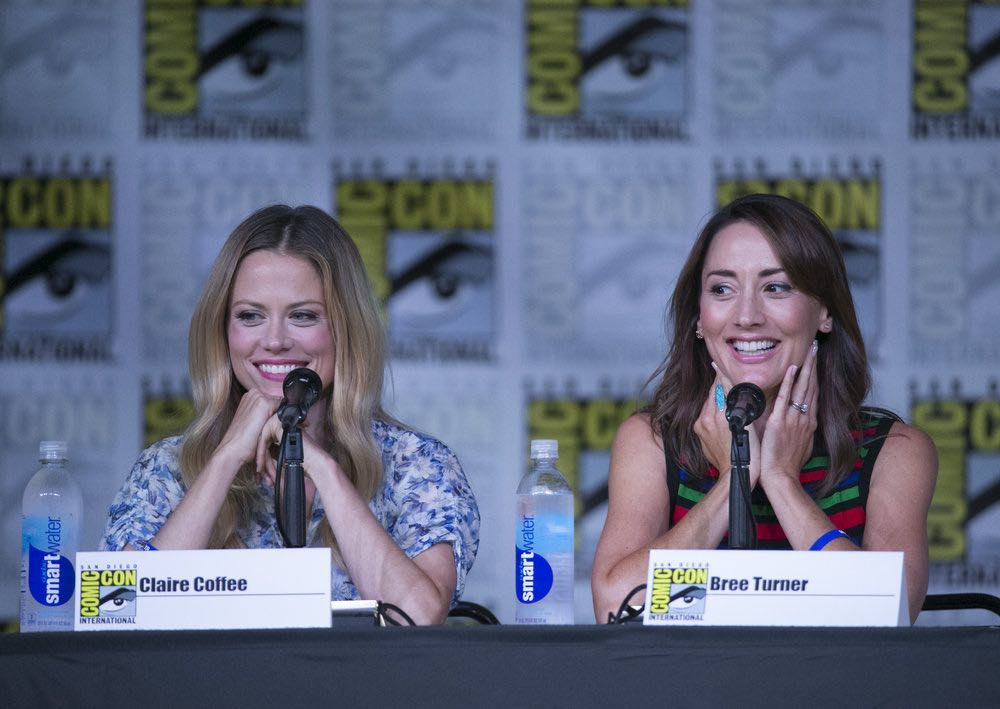 "COMIC-CON INTERNATIONAL: SAN DIEGO 2016 -- ""Grimm Panel"" -- Pictured: (l-r) Claire Coffee, Bree Turner, Saturday, July 23, 2016, from the San Diego Convention Center, San Diego, Calif. -- (Photo by: Mark Davis/NBC)"