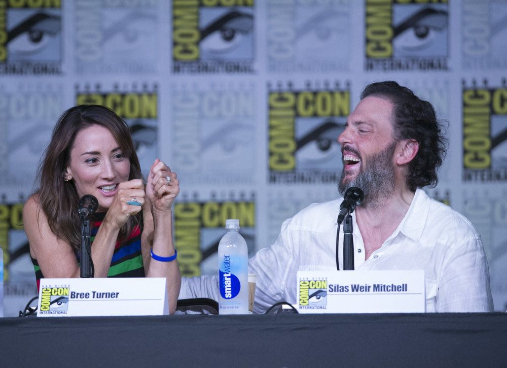 "COMIC-CON INTERNATIONAL: SAN DIEGO 2016 -- ""Grimm Panel"" -- Pictured: (l-r) Bree Turner, Silas Weir Mitchell, Saturday, July 23, 2016, from the San Diego Convention Center, San Diego, Calif. -- (Photo by: Mark Davis/NBC)"
