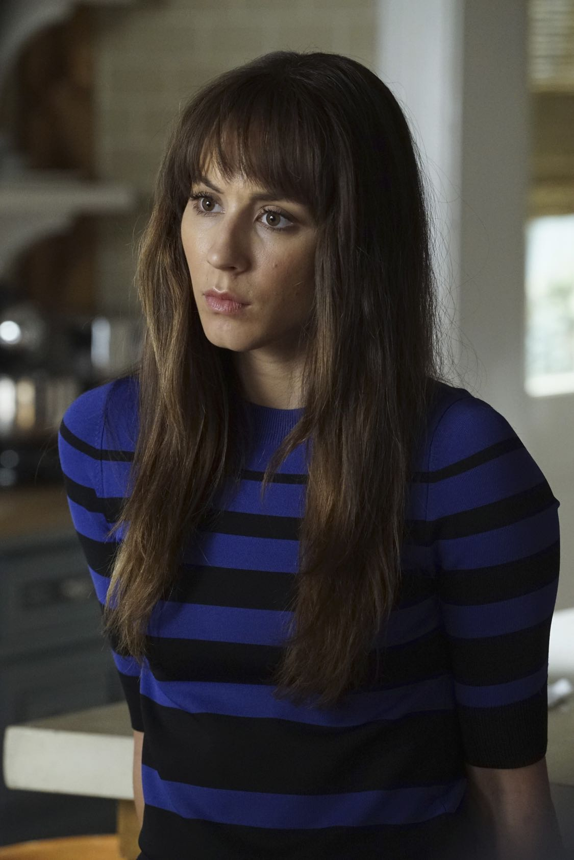 """PRETTY LITTLE LIARS - """"The Darkest Knight"""" - The PLLs confront old foes head-on and mayhem ensues in """"The Darkest Knight,"""" the summer finale of the hit original series """"Pretty Little Liars,"""" airing TUESDAY, AUGUST 30 (8:00-9:00 p.m. EDT). Fans can catch up on all of the drama with an all-day marathon of season seven starting at 11:00 a.m. EDT and running up to the one-hour summer finale at 8:00 p.m. EDT. (Freeform/Ron Tom) TROIAN BELLISARIO"""
