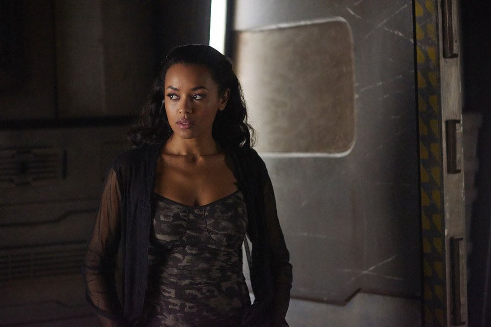 """DARK MATTER -- """"She's One of Them Now"""" Episode 207 -- Pictured: Melanie Liburd as Nyx -- (Photo by: Russ Martin/Prodigy Pictures/Syfy)"""