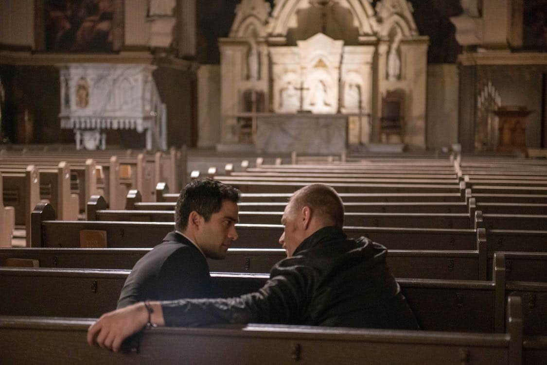 """THE EXORCIST: L-R: Alfonso Herrera and Ben Daniels in the """"Chapter Three: Let 'Em In"""" episode of THE EXORCIST airing Friday, Oct. 7 (9:00-10:00 PM ET/PT) on FOX. ©2016 Fox Broadcasting Co. Cr: Jean Whiteside/FOX"""