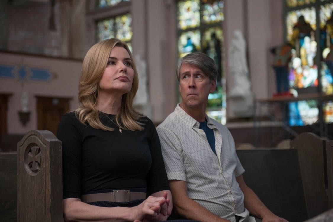 "THE EXORCIST: L-R: Geena Davis and Alan Ruck in the ""Chapter Three: Let 'Em In"" episode of THE EXORCIST airing Friday, Oct. 7 (9:00-10:00 PM ET/PT) on FOX. ©2016 Fox Broadcasting Co. Cr: Jean Whiteside/FOX"