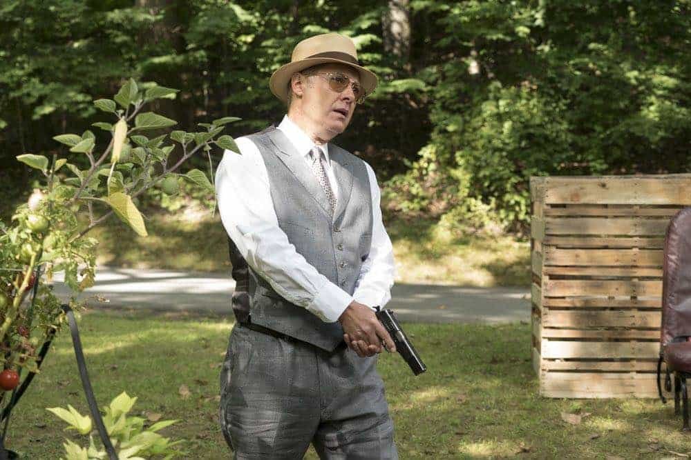 "THE BLACKLIST -- ""Gaia: #81"" Episode 404 -- Pictured: James Spader as Raymond ""Red"" Reddington -- (Photo by: Virginia Sherwood/NBC)"
