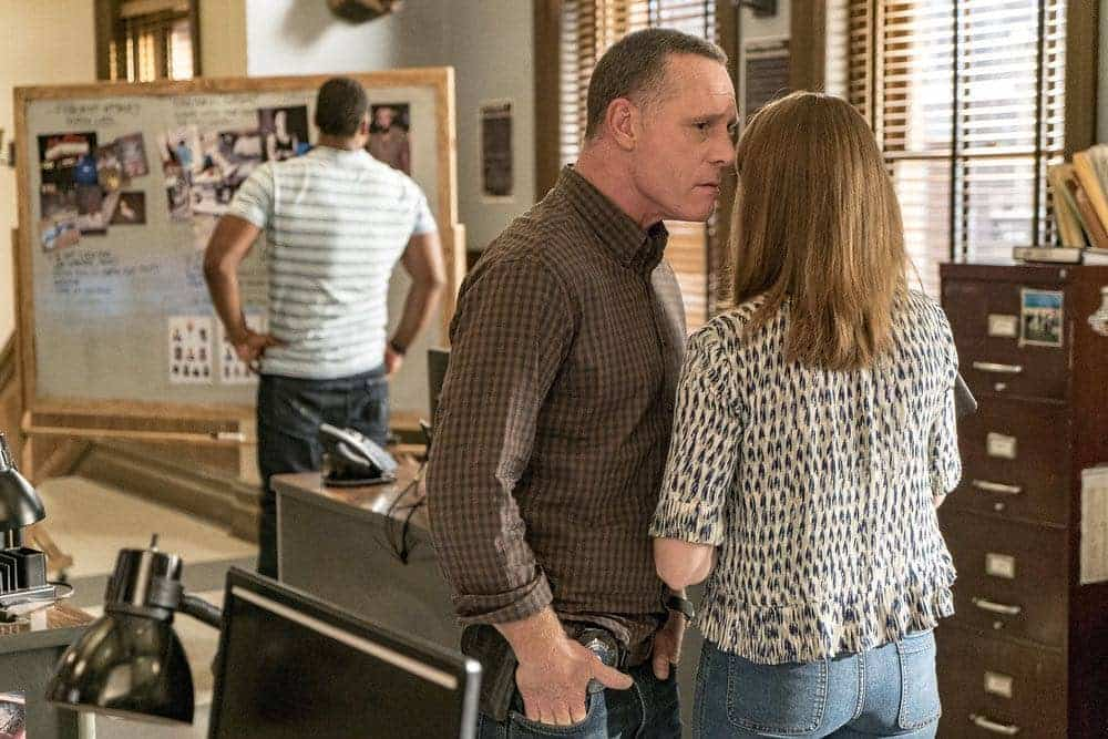 "CHICAGO P.D. -- ""Big Friends Big Enemies"" Episode 403 -- Pictured: Jason Beghe as Hank Voight -- (Photo by: Matt Dinerstein/NBC)"