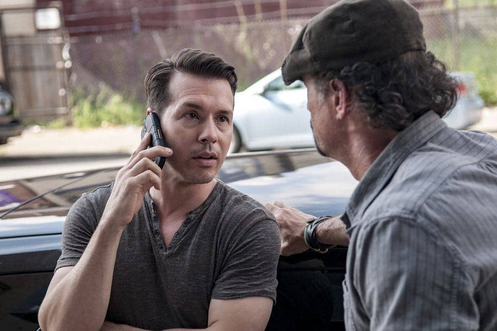 "CHICAGO P.D. -- ""Big Friends Big Enemies"" Episode 403 -- Pictured: (l-r) Jon Seda as Antonio Dawson, Elias Koteas as Alvin Olinsky -- (Photo by: Matt Dinerstein/NBC)"