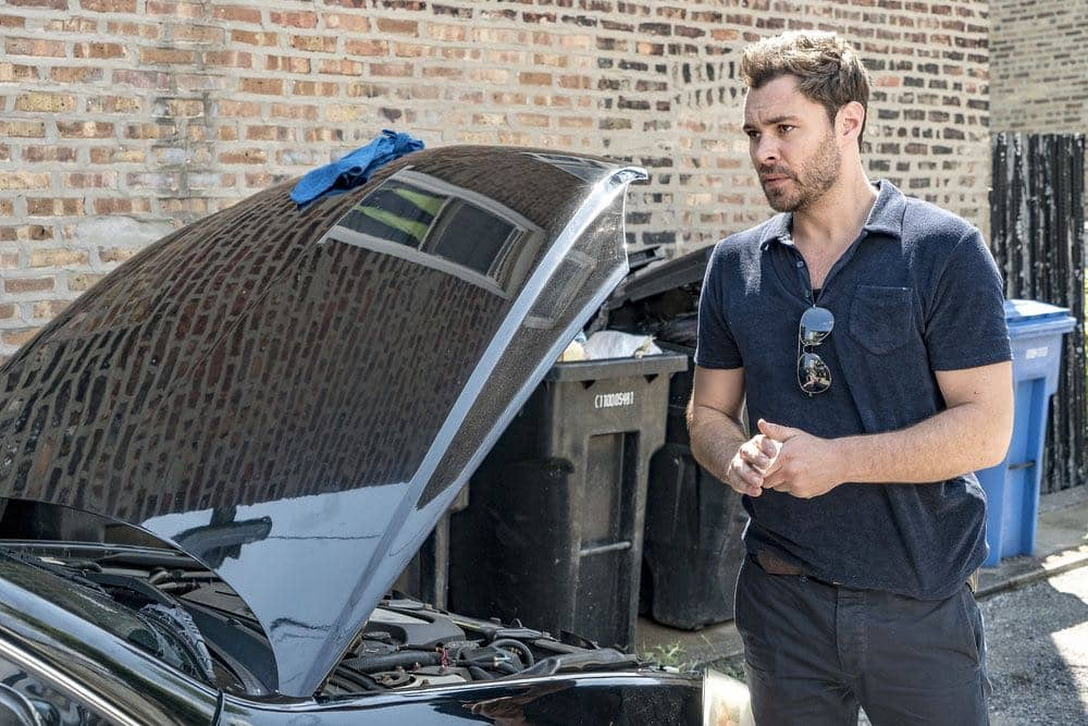 "CHICAGO P.D. -- ""Big Friends Big Enemies"" Episode 403 -- Pictured: Patrick Flueger as Kyle Ruzek -- (Photo by: Matt Dinerstein/NBC)"