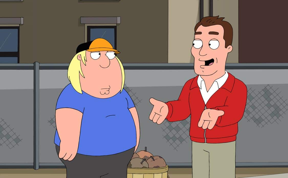 "FAMILY GUY: Chris becomes a star baseball pitcher coached by guest voice Kyle Chandler, and Peter bets on his games. Meanwhile, Stewie, Brian and Frank Sinatra Jr. (guest voicing as himself) open an Italian restaurant in the ""Bookie of the Year"" episode of FAMILY GUY airing Sunday, Oct. 2 (9:00-9:30 PM ET/PT) on FOX. FAMILY GUY ™ and © 2016 TCFFC ALL RIGHTS RESERVED. CR: FOX"