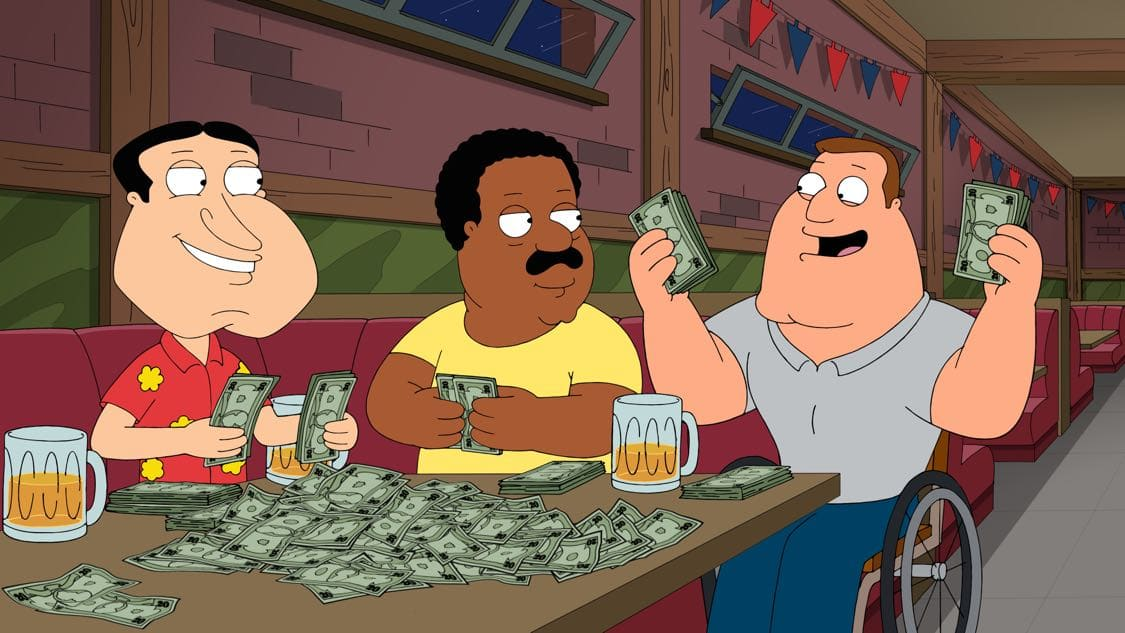 "FAMILY GUY: Chris becomes a star baseball pitcher and Peter bets on his games. Meanwhile, Stewie, Brian and Frank Sinatra Jr. (guest voicing as himself) open an Italian restaurant in the ""Bookie of the Year"" episode of FAMILY GUY airing Sunday, Oct. 2 (9:00-9:30 PM ET/PT) on FOX. FAMILY GUY ™ and © 2016 TCFFC ALL RIGHTS RESERVED. CR: FOX"