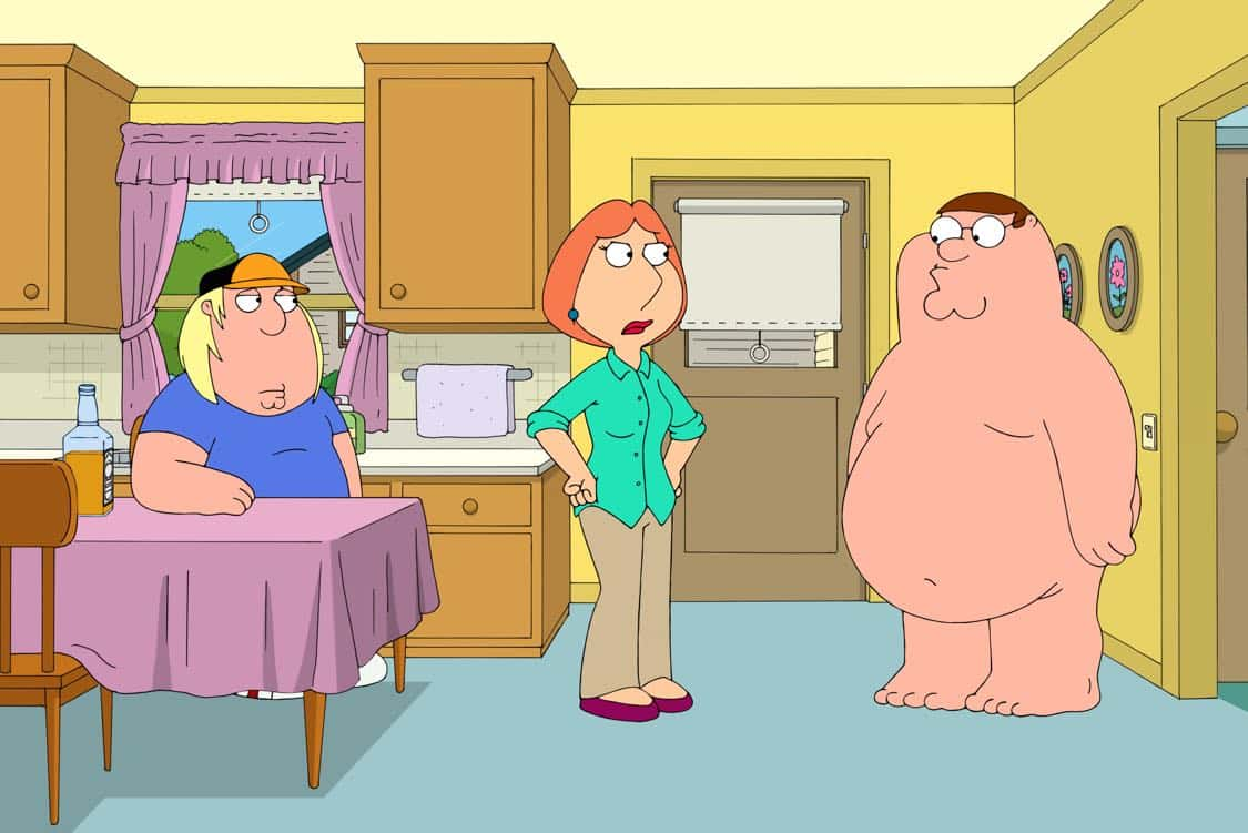 """FAMILY GUY: Chris becomes a star baseball pitcher and Peter bets on his games. Meanwhile, Stewie, Brian and Frank Sinatra Jr. (guest voicing as himself) open an Italian restaurant in the """"Bookie of the Year"""" episode of FAMILY GUY airing Sunday, Oct. 2 (9:00-9:30 PM ET/PT) on FOX. FAMILY GUY ™ and © 2016 TCFFC ALL RIGHTS RESERVED. CR: FOX"""