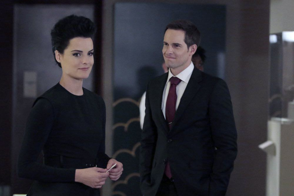 "BLINDSPOT -- ""If Beth"" Episode 204 -- Pictured: (l-r) Jaimie Alexander as Jane Doe, Jonathan Patrick Moore as Oliver -- (Photo by: Giovanni Ruffino/NBC)"