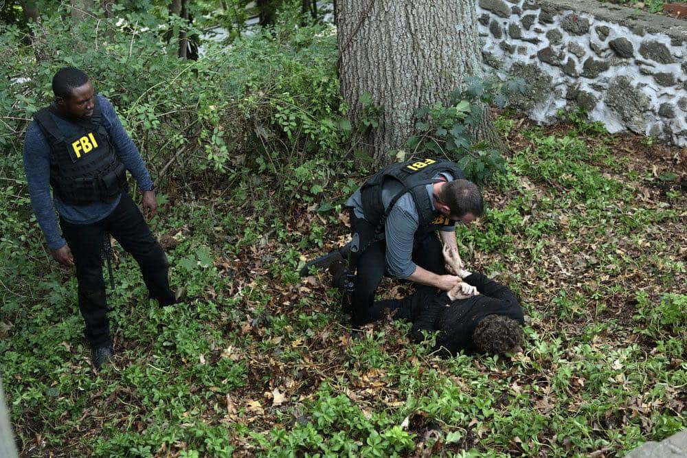 "BLINDSPOT -- ""If Beth"" Episode 204 -- Pictured: (l-r) Rob Brown as Edgar Reade, Sullivan Stapleton as Kurt Weller, Jeff Solomon as Bo Kaier -- (Photo by: Giovanni Ruffino/NBC)"