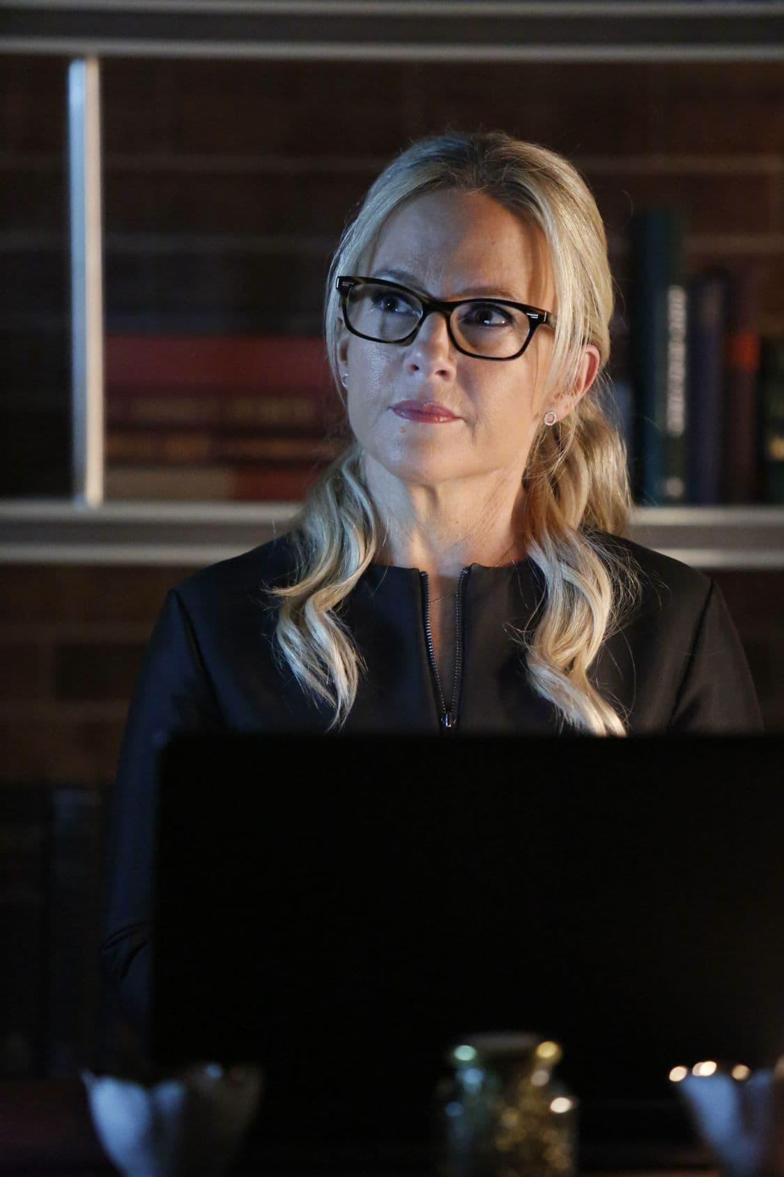 "LUCIFER: Rachael Harris in the ""Liar, Liar, Slutty Dress on Fire"" episode of LUCIFER airing Monday, Oct. 3 (9:01-10:00 PM ET/PT) on FOX. Cr: Bettina Strauss/FOX."