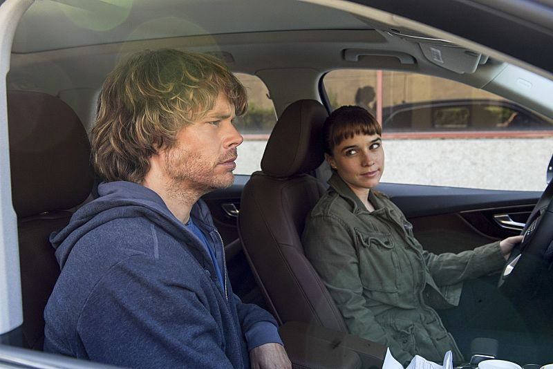 """Black Market"" -- Pictured: Eric Christian Olsen (LAPD Liaison Marty Deeks) and Renée Felice Smith (Intelligence Analyst Nell Jones). After a Homeland Security agent is poisoned by a notorious Triad assassin, NCIS uncovers a warehouse of counterfeit purses and a money trail to stolen government funds. Also, Nell joins the team in the field, on NCIS: LOS ANGELES, Sunday, Oct. 16 (8:00-9:00 PM, ET/PT), on the CBS Television Network. Photo: Ron P. Jaffe/CBS ©2016 CBS Broadcasting, Inc. All Rights Reserved."