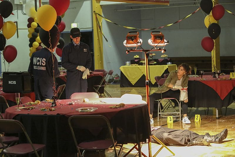 """Being Bad"" -- NCIS uncovers a bomb plot and a long-running theft ring while investigating a death at a Quantico reunion. Also Torres and Quinn adjust to life on Gibbs' team, including new seating arrangements in the squad room, on NCIS, Tuesday, Sept. 27 (8:00-9:00, ET/PT), on the CBS Television Network. Pictured: David McCallum, Brian Dietzen, Jennifer Esposito. Photo: Patrick McElhenney/CBS ©2016 CBS Broadcasting, Inc. All Rights Reserved"