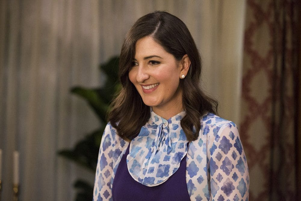 """THE GOOD PLACE -- """"Jason Mendoza"""" Episode 104 -- Pictured: D'Arcy Carden as Janet -- (Photo by: Justin Lubin/NBC)"""