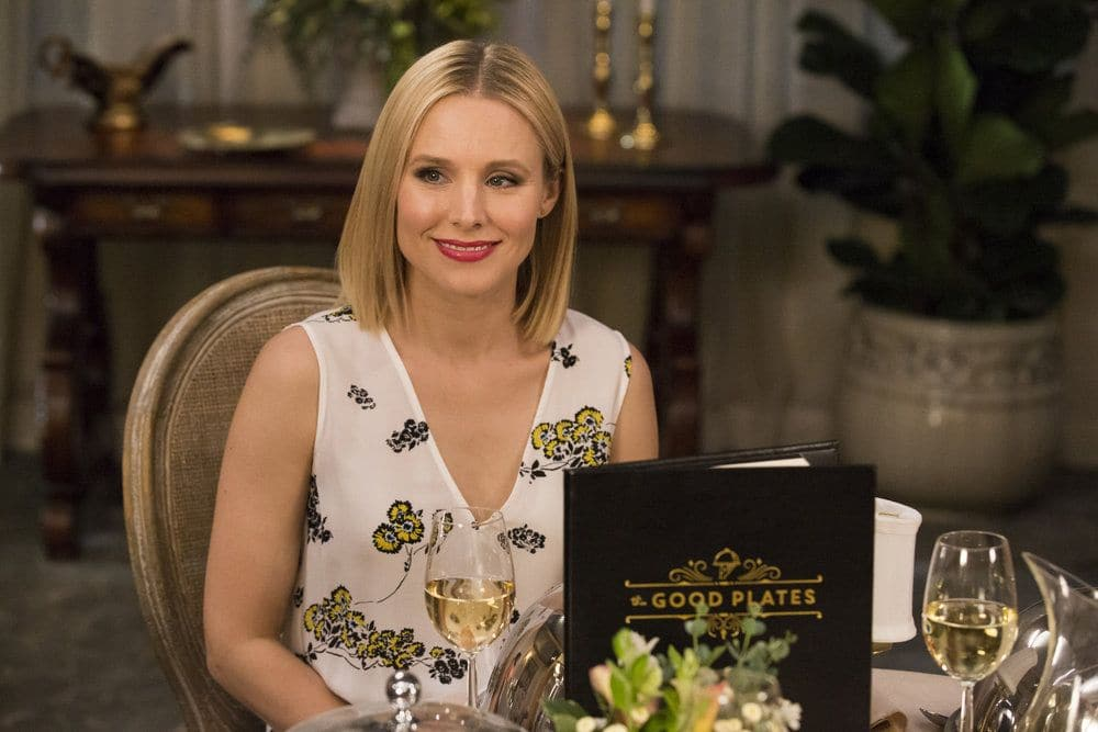 """THE GOOD PLACE -- """"Jason Mendoza"""" Episode 104 -- Pictured: Kristen Bell as Eleanor -- (Photo by: Justin Lubin/NBC)"""