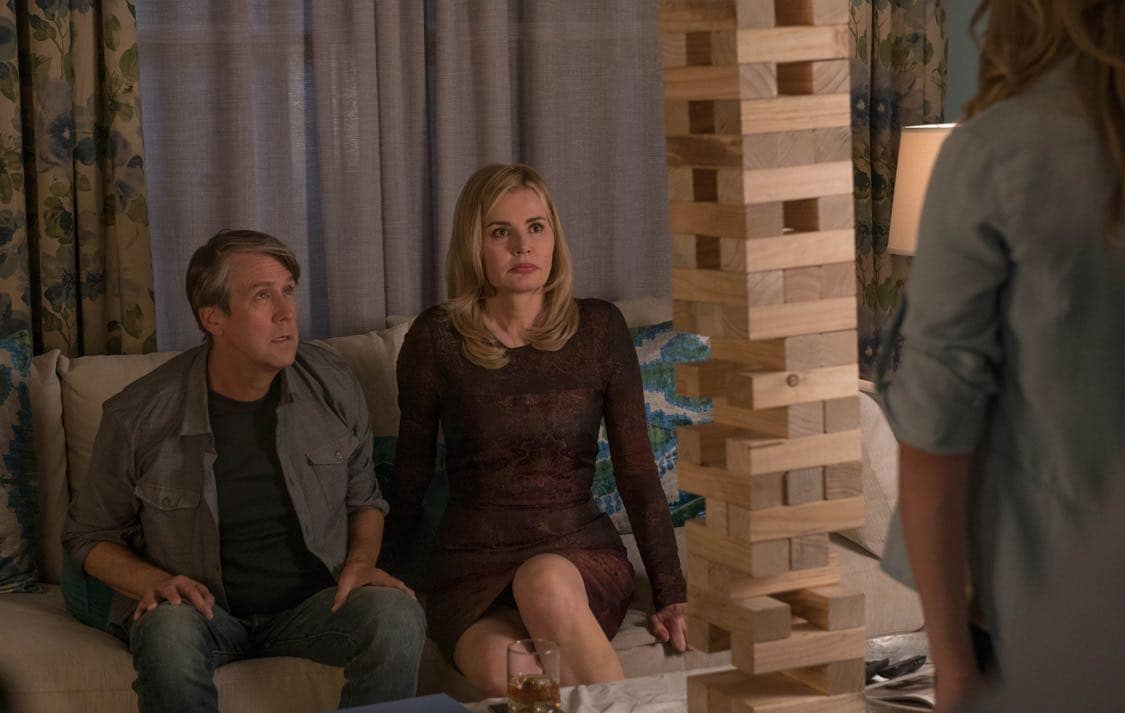 "THE EXORCIST: L-R: Alan Ruck and Geena Davis in the ""Lupus in Fabula"" episode of THE EXORCIST airing Friday, Sept. 30 (9:00-10:00 PM ET/PT) on FOX. ©2016 Fox Broadcasting Co. Cr: Jean Whiteside/FOX"