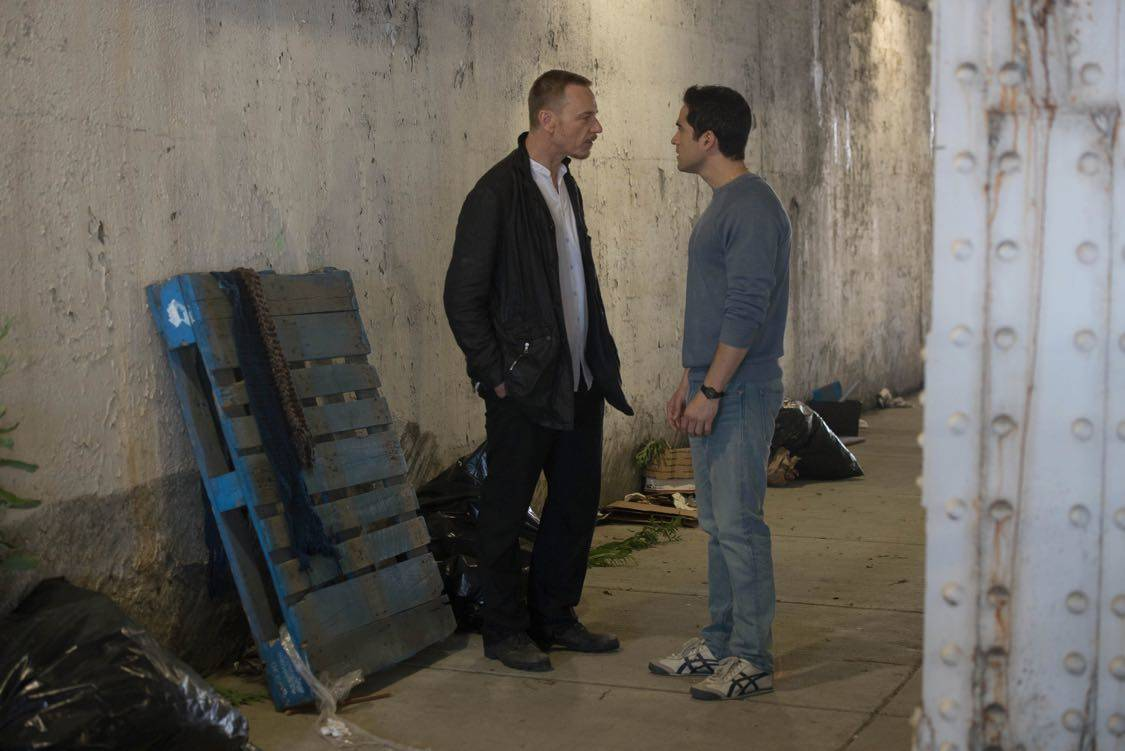 "THE EXORCIST: L-R: Ben Daniels and Alfonso Herrera in the ""Lupus in Fabula"" episode of THE EXORCIST airing Friday, Sept. 30 (9:00-10:00 PM ET/PT) on FOX. ©2016 Fox Broadcasting Co. Cr: Jean Whiteside/FOX"