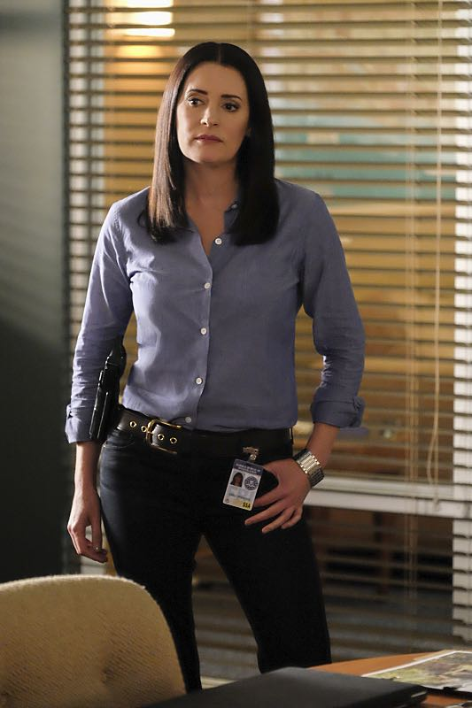"""Taboo"" -- The BAU team is called upon to investigate when the bodies of three women are discovered encased in concrete in 55-gallon drums, on CRIMINAL MINDS, Wednesday, Oct. 12, 2016 (9:00-10:00 PM, ET/PT), on the CBS Television Network. Pictured: Paget Brewster (Emily Prentiss) Photo: Darren Michaels/CBS ©2016 CBS Broadcasting, Inc. All Rights Reserved"