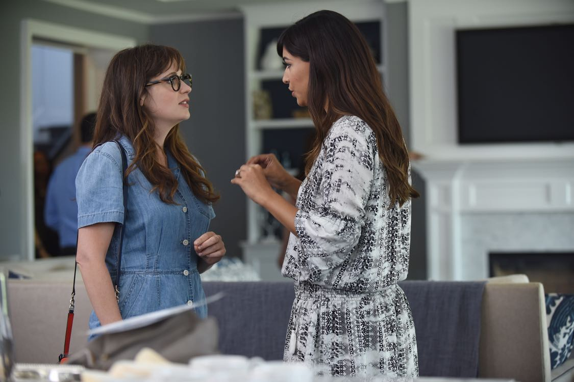 "NEW GIRL:  L-R:  Zooey Deschanel and Hannah Simone in the ""House Hunt"" season premiere episode of NEW GIRL airing Tuesday, Sept. 20 (8:30-9:00 PM ET/PT) on FOX.  ©2016 Fox Broadcasting Co.  Cr:  Ray Mickshaw/FOX"