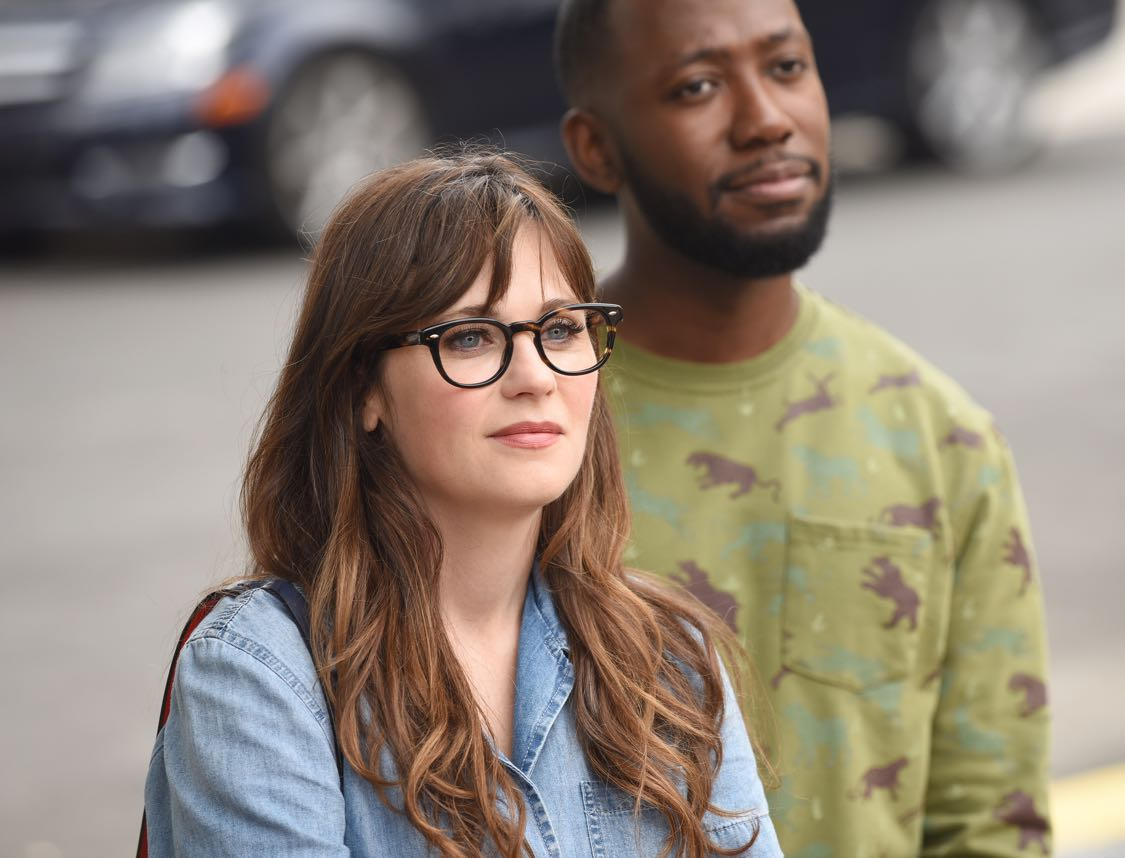 """NEW GIRL:   L-R:  Zooey Deschanel and Lamorne Morris   in the """"House Hunt"""" season premiere episode of NEW GIRL airing Tuesday, Sept. 20 (8:30-9:00 PM ET/PT) on FOX.  ©2016 Fox Broadcasting Co.  Cr:  Ray Mickshaw/FOX"""