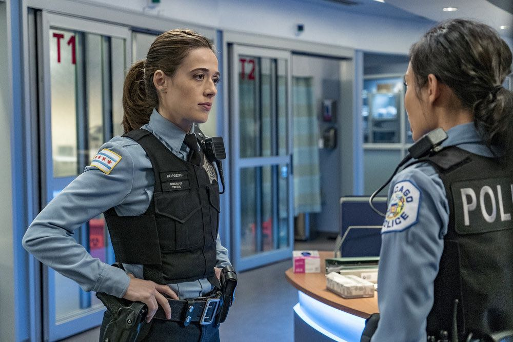 "CHICAGO P.D. -- ""The Silos"" Episode 401 -- Pictured: Marina Squerciati as Kim Burgess -- (Photo by: Matt Dinerstein/NBC)"
