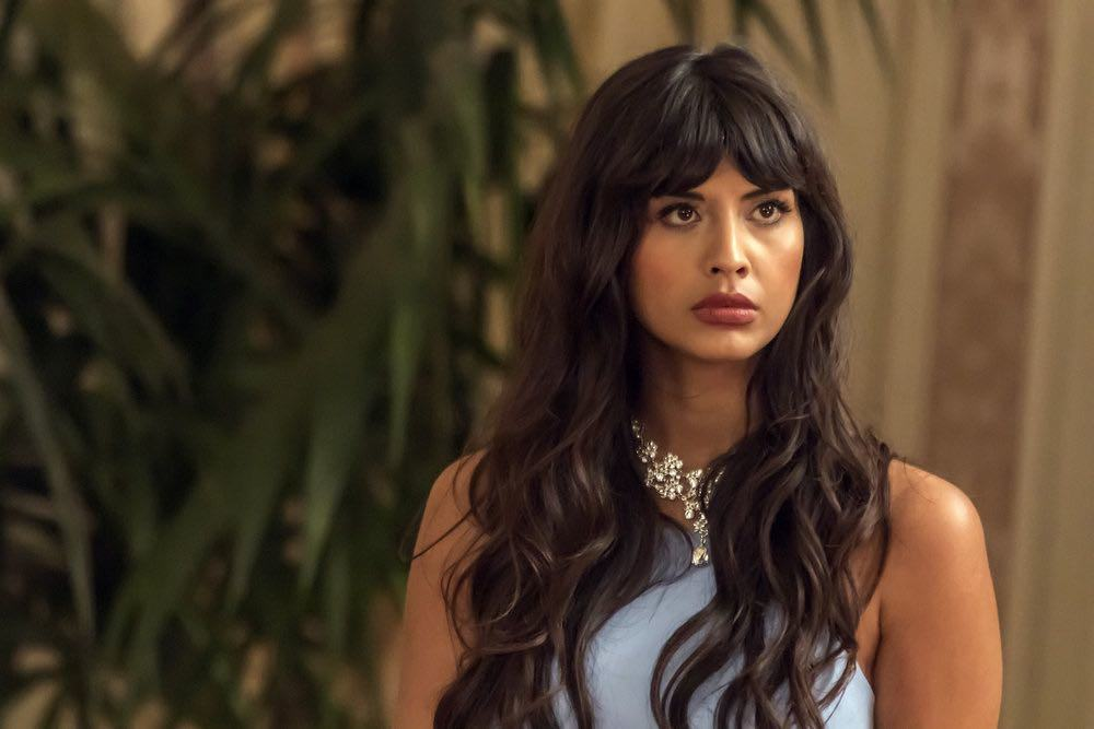 """THE GOOD PLACE -- """"...Someone Like Me as a Member"""" -- Pictured: Jameela Jamil as Tehani -- (Photo by: Ron Batzdorff/NBC)"""