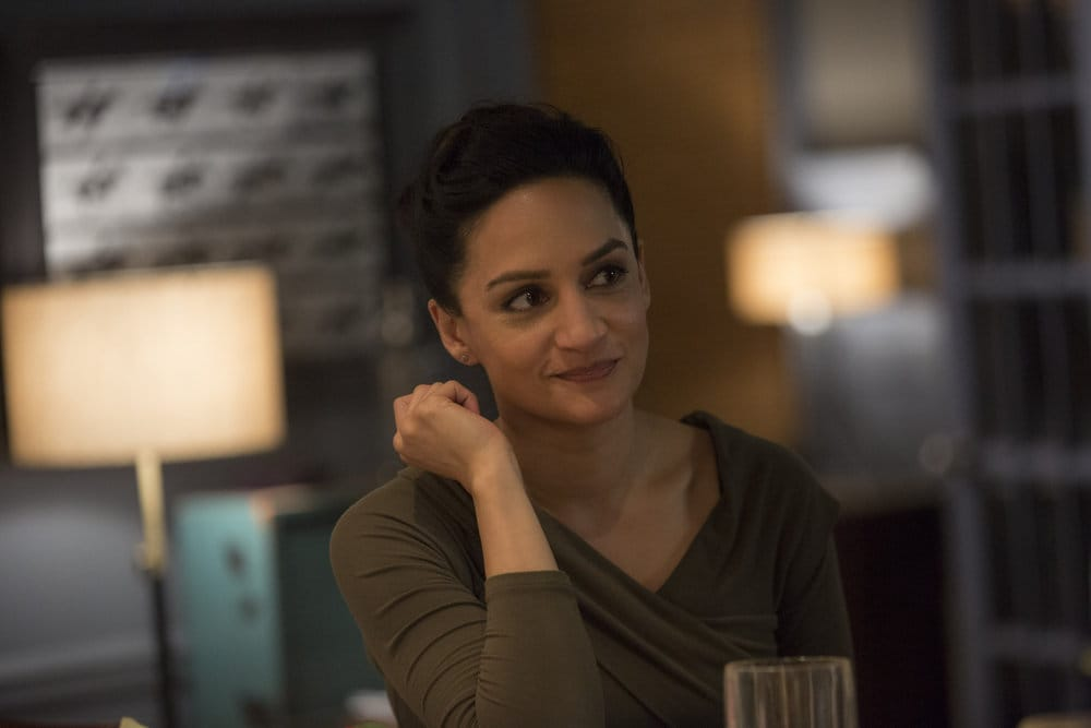"BLINDSPOT -- ""Do Not Slack, the Featherweight Wins"" Episode 208 -- Pictured: Archie Panjabi as Nas Kamal -- (Photo by: Eric Liebowitz/Warner Bros/NBC)"