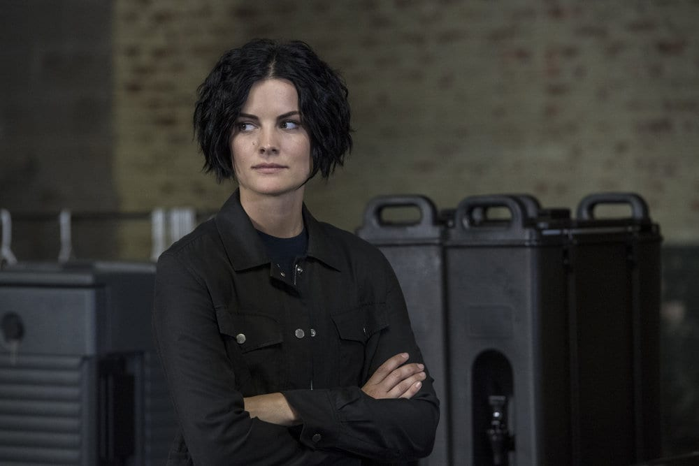 "BLINDSPOT -- ""Do Not Slack, the Featherweight Wins"" Episode 208 -- Pictured: Jaimie Alexander as Jane Doe -- (Photo by: David Giesbrecht/Warner Bros/NBC)"