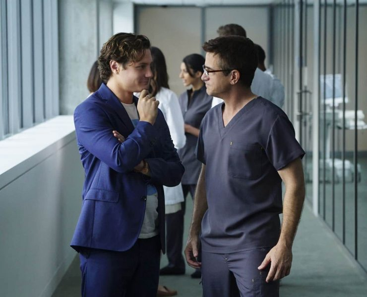 PURE GENIUS is a cutting-edgemedical drama about James Bell (Augustus Prew, left), a young Silicon Valley tech titan, who enlists Walter Wallace (Dermot Mulroney), a brilliant veteran surgeon with a controversial past, to run a state-of-the-art hospital with an ultramodern approach to medicine. Photo: Sonja Flemming/CBS ©2015 CBS Broadcasting, Inc. All Rights Reserved