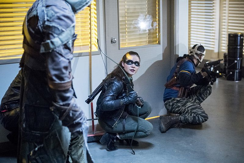 "Arrow -- ""Penance"" -- Image AR504a_0375b.jpg -- Pictured (L-R): Madison McLaughlin as Evelyn Sharp and Rick Gonzales as Rene Ramirez/Wild Dog -- Photo: Dean Buscher/The CW -- © 2016 The CW Network, LLC. All Rights Reserved."