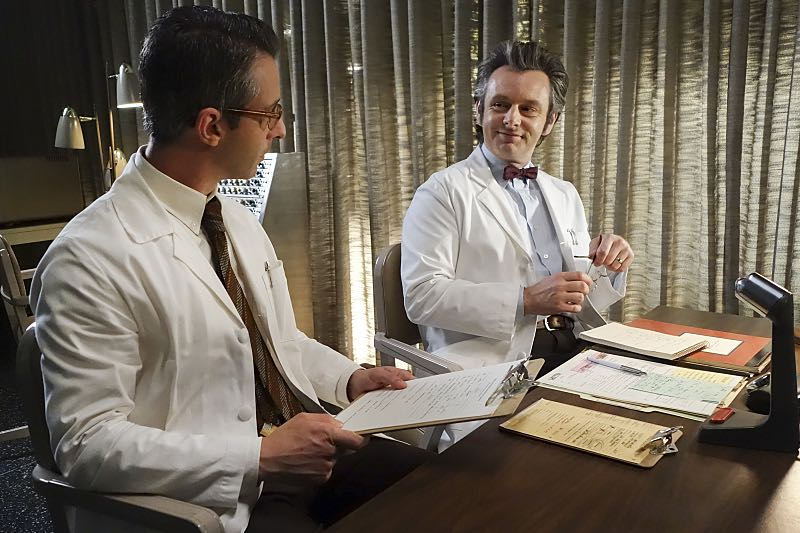 Jeremy Strong as Art and Michael Sheen as Dr. William Masters in Masters of Sex (season 4, episode 7) - Photo: Warren Feldman/SHOWTIME - Photo ID: MastersofSex_407_0706