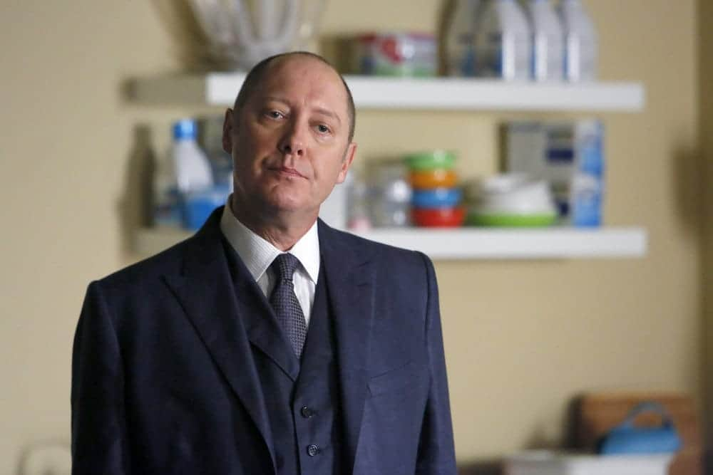 "THE BLACKLIST-- ""The Thrushes: #53"" Episode 406 -- Pictured: James Spader as Raymond ""Red"" Reddington -- (Photo by: Will Hart/NBC)"