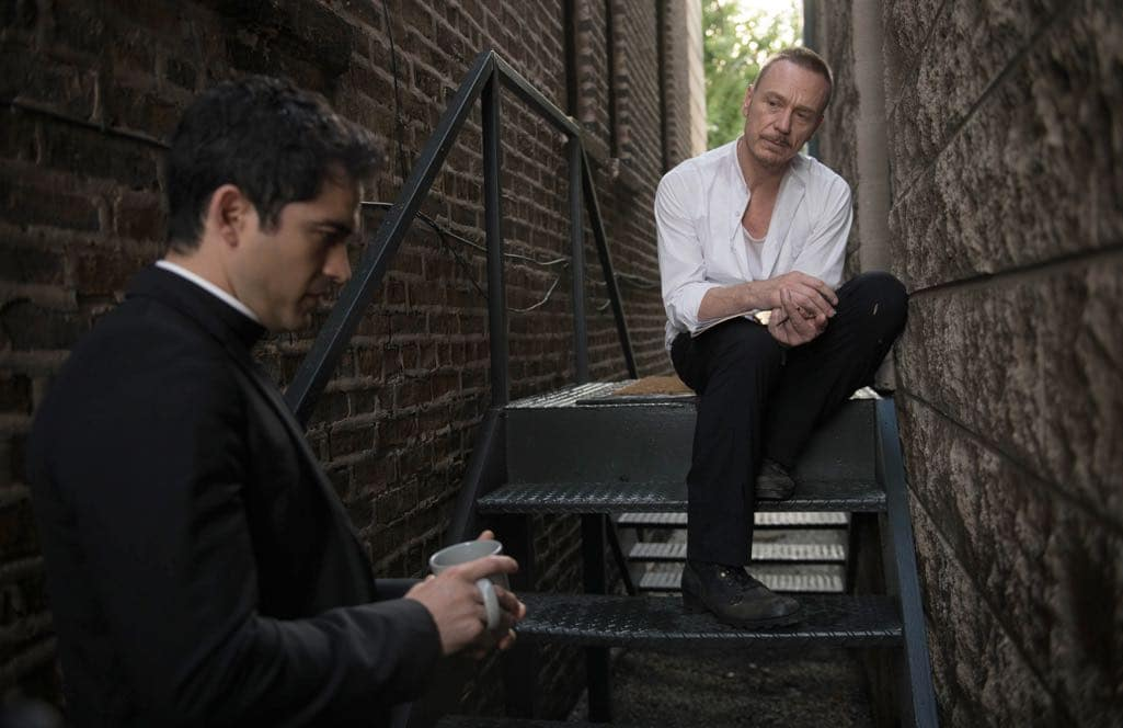 "THE EXORCIST: L-R: Alfonso Herrera and Ben Daniels in the ""Chapter Five: Through My Most Grievous Fault"" episode of THE EXORCIST airing Friday, Oct. 21 (9:01-10:00 PM ET/PT) on FOX. ©2016 Fox Broadcasting Co. Cr: Jean Whiteside/FOX"