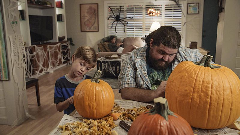 """""""Ka hale ho'okauweli"""" -- On Halloween, Five-0 investigates the murder of a medium with a checkered past who was apparently scared to death by a poltergeist. Also, Kono and Adam are kidnapped by what appears to be a death cult, on HAWAII FIVE-0, Friday, Oct. 28 (9:00-10:00 PM, ET/PT), on the CBS Television Network. Pictured left to right: Zach Sulzbach as Charlie Williams and Jorge Garcia as Jerry Ortega. Photo: CBS ©2016 CBS Broadcasting, Inc. All Rights Reserved"""